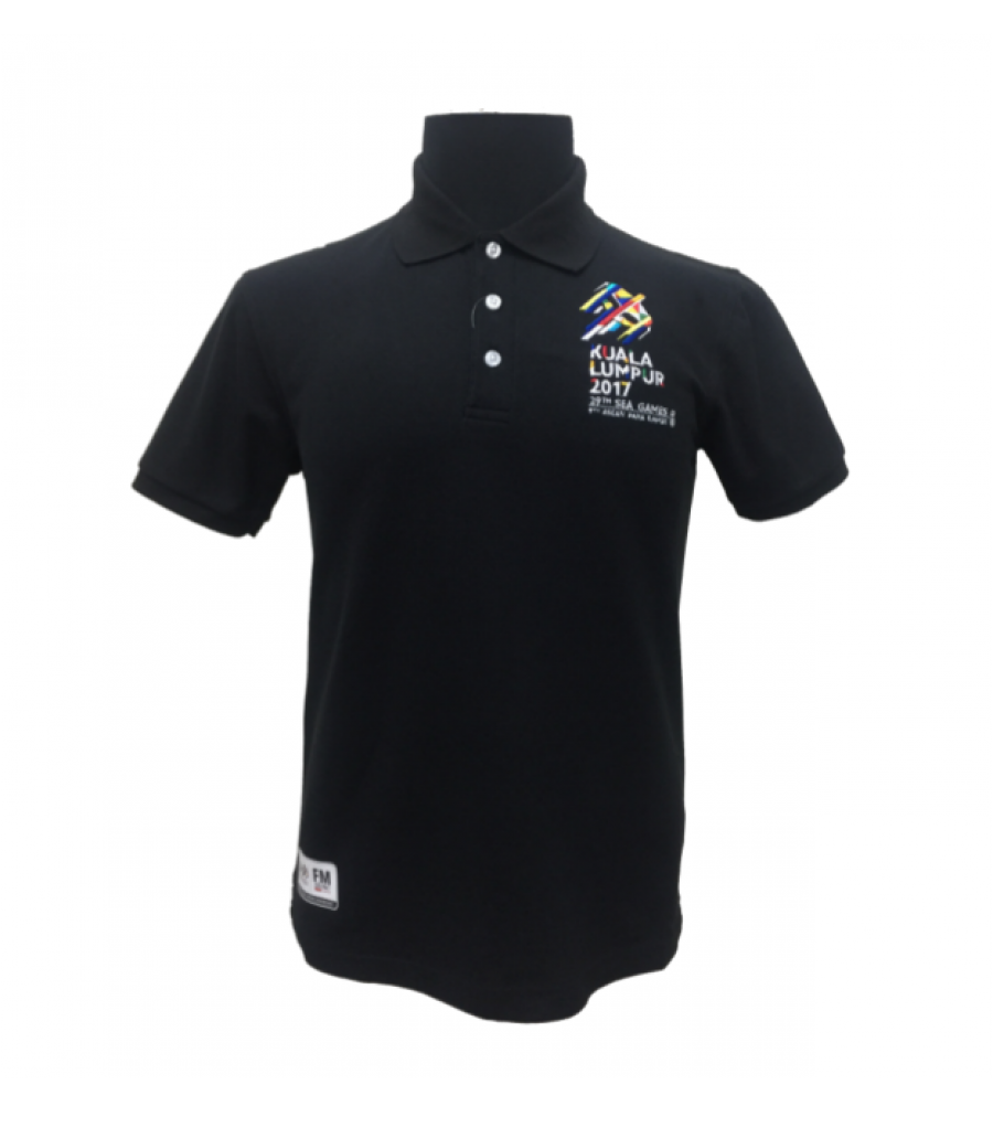 Black t shirt white collar - Kl2017 Collar Tshirt Honeycomb Black