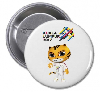 KL2017 Button Badge ( White)