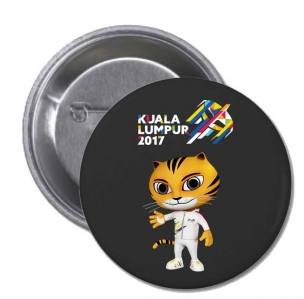 KL2017 Button Badge ( Black )